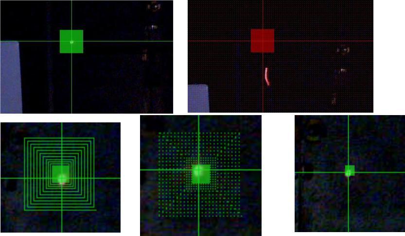 Webcam following the laser dot