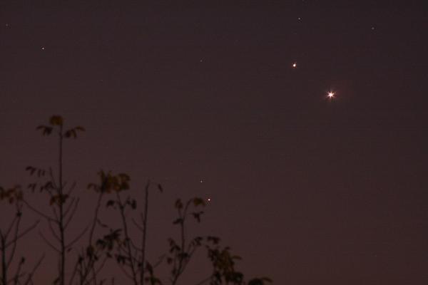 photo Rapprochement entre Mars, Vénus et Jupiter