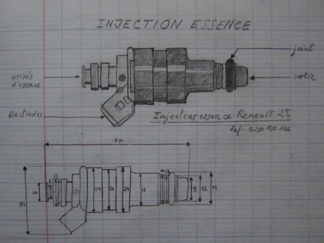 Renaut R25 injector