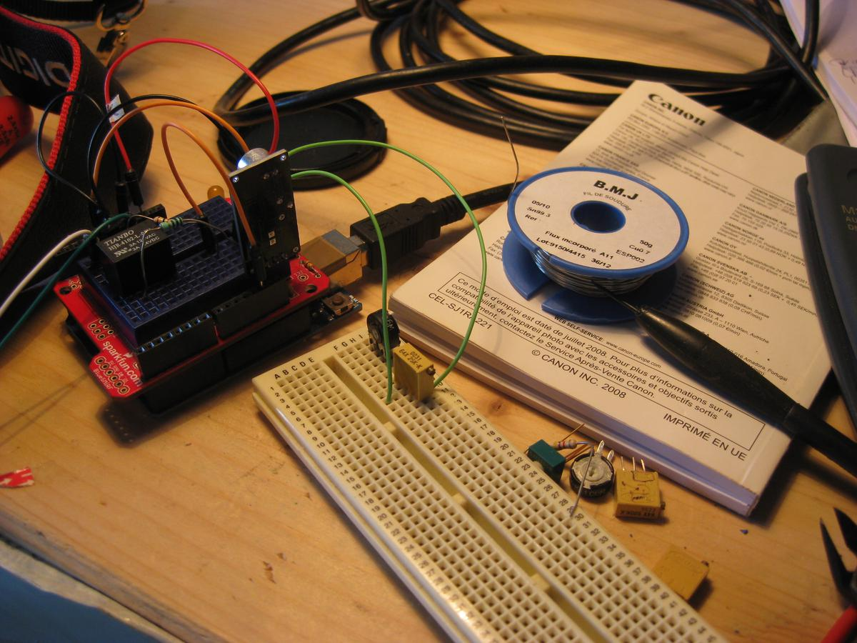 Tests on breadboard